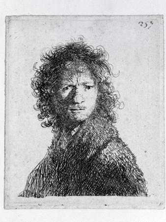 Self Portrait, 1630 (Etching)