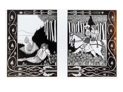 How King Mark and Sir Dinadan Heard Sir Palomides, Illustration from 'Le Morte D'Arthur'