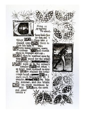 Illuminated Text from Rossetti's 'House of Life' Sonnet Sequence, C.1880 (Pen and Ink on Paper)