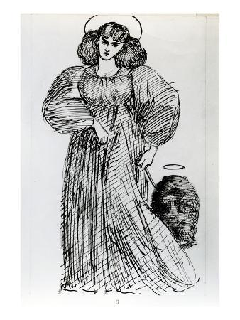 Mrs. Morris and the Wombat, 1869 (Pen and Ink on Paper)