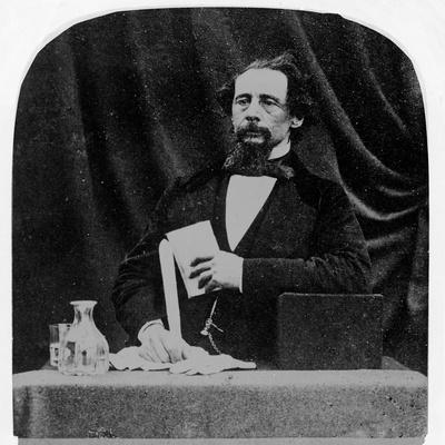 Charles Dickens (B/W Photo)