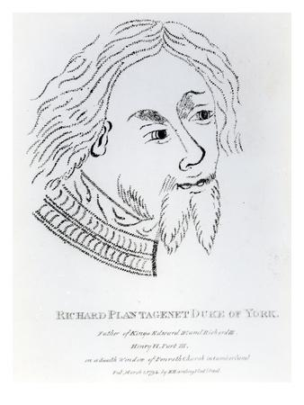 Richard of York, 3rd Duke of York, Published in 1792 (Engraving)