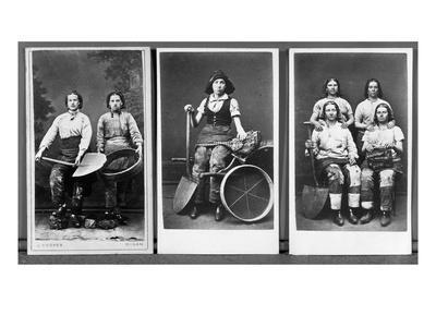 Wigan Pit Girls (B/W Photo)
