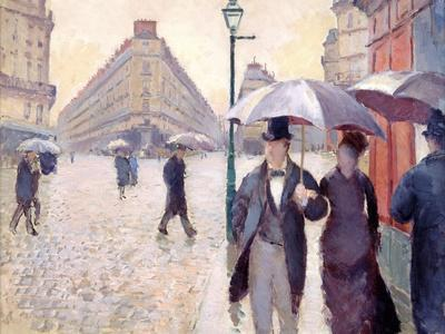Sketch for 'Paris Street; Rainy Day', 1877