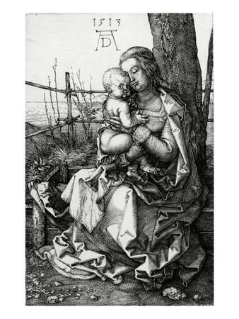 The Virgin and Child Seated under a Tree, 1513 (Engraving)