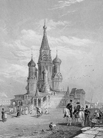St. Basil's Cathedral, Moscow, Engraved by Turnbull, 1835 (Engraving)