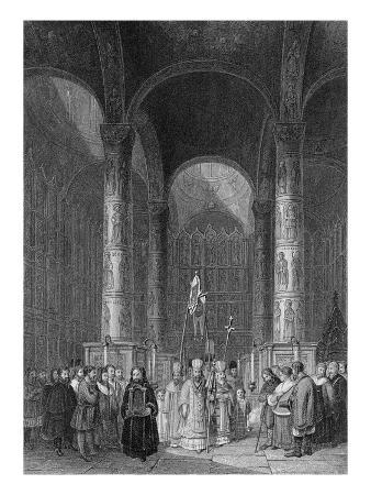 Interior of the Grand Cathedral of the Assumption, Engraved by T. Higham, 1835 (Engraving)