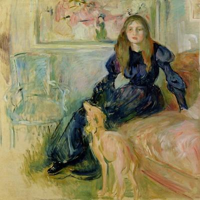 Julie Manet (1878-1966) and Her Greyhound Laerte, 1893