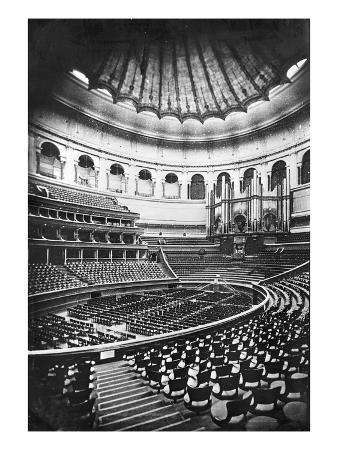 The Royal Albert Hall, London, C.1880's (B/W Photo)