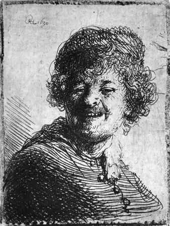 Self-Portrait, 1630 (Etching)