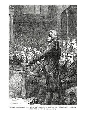 Burke Addressing the House of Commons in Support of Wilberforce's Motion for Abolition of Slavery