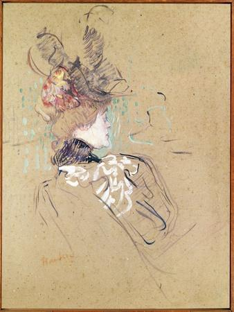 Profile of a Woman, 1896 (Oil on Card)