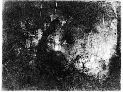 The Adoration of the Shepherds, C.1652 (Etching)