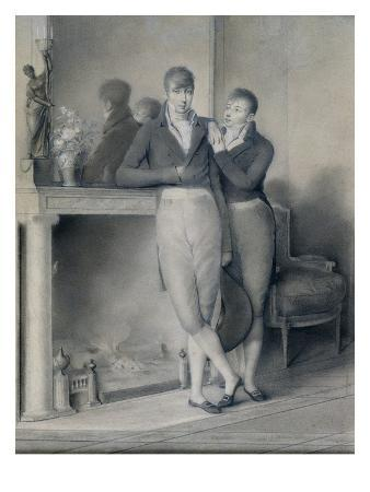 Two Young Men, 1803-04 (Pencil on Paper Heightened with Gouache)