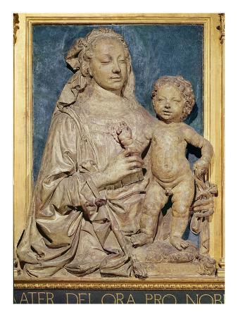 Madonna and Child, C.1470 (Glazed Terracotta) (Also See 79880)