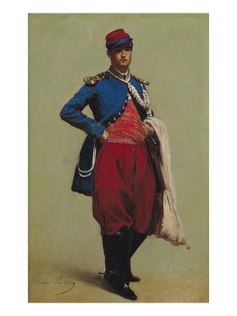 Portrait of Claude Monet (1840-1926) in Uniform, 1861