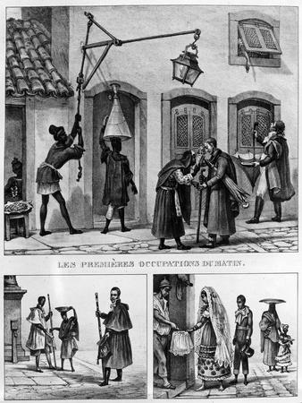 Daily Life in Brazil, from 'Travels in Brazil', Lithographed by Thierry Freres, 1839 (Litho)