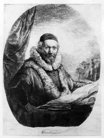 Jan Uytenbogaert, Preacher of the Remonstrants, 1635 (Etching)