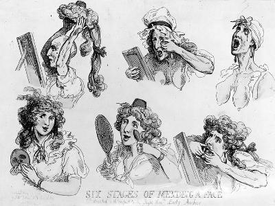 Six Stages of Making a Face', Printed by S.W. Fores, 1792 (Etching)