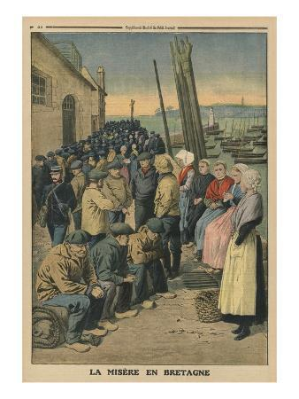 Poverty in Brittany, Back Cover Illustration from 'Le Petit Journal', 19th January 1913