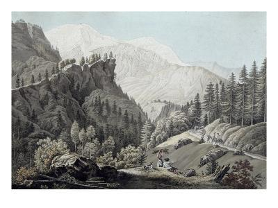 View of the Chamonix Valley, 1789 (Coloured Engraving)