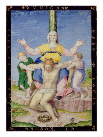 Pieta (Oil on Panel)