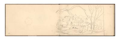 Village of Sandviken and Bridge of Lokke, 1895 (Pencil on Paper)