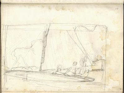 Clipper of Argenteuil Tacking (Pencil on Paper)