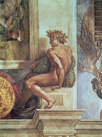 Ignudo from the Sistine Ceiling (Pre Restoration)