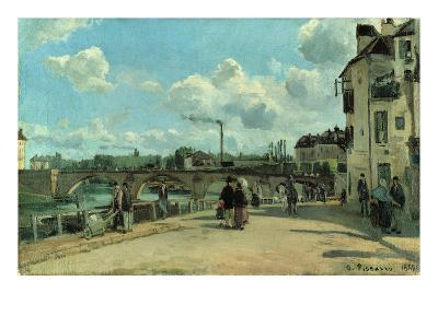 View of Pontoise: Quai Au Pothuis, 1868