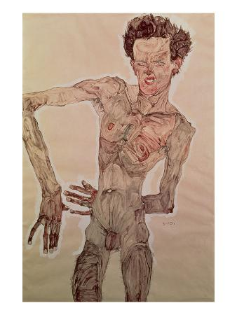 Standing Nude, Facing Front (Self Portrait), 1910