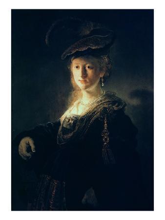 Young Woman in Fancy Dress