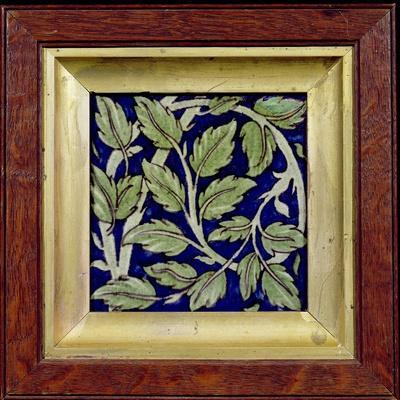 Tile with a Leaf Design (Pottery)