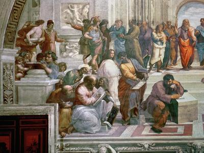 The School of Athens, Detail from the Left Hand Side Showing Pythagoras