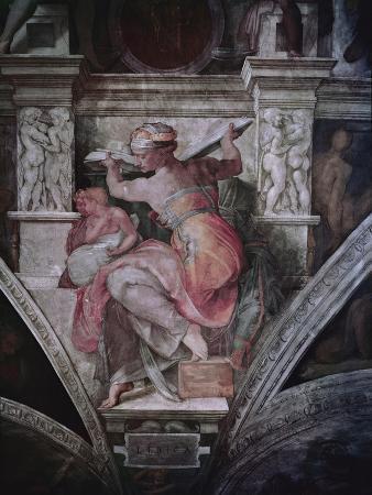 Sistine Chapel Ceiling: Libyan Sibyl, C.1508-10 (Fresco)