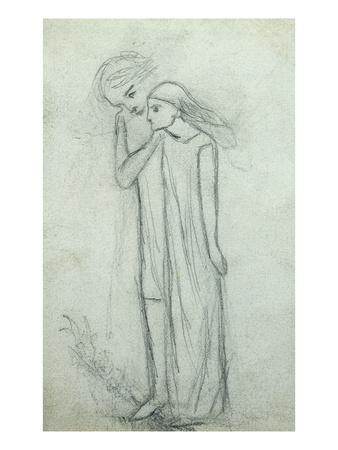 Idea for 'La Belle Dame Sans Merci' (Pencil on Paper) (See also 200314)