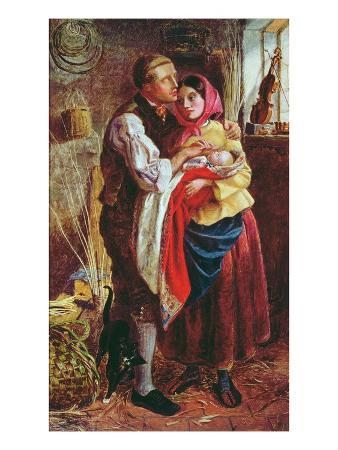 The Blind Basket Maker with His First Child, 1858