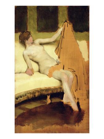 Female Nude (Oil on Panel)