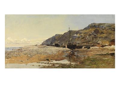 Coastal Scene (Oil on Panel)