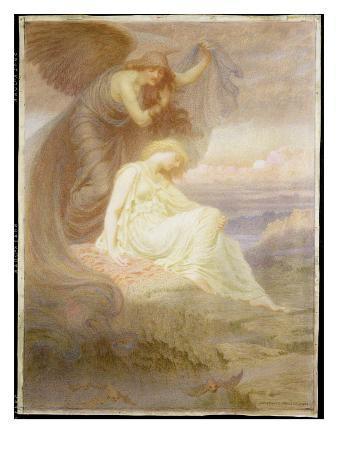 Spirit of Night, 1905 (W/C and Gouache)