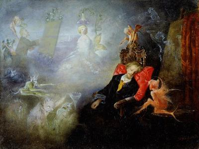 The Artist's Dream, 1857 (Oil on Millboard)