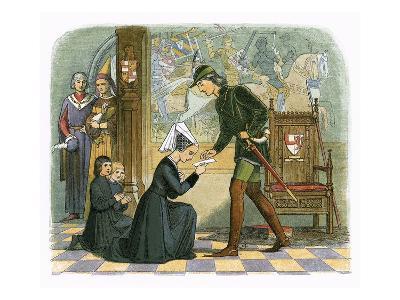 King Edward Iv and Lady Elizabeth Grey