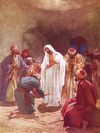 Jesus Childing Thomas for His Unbelief