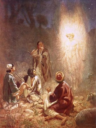 An Angel Announcing to the Shepherds of Bethlehem the Birth of Jesus