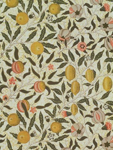 Pomegranate Pattern Gicl\u00e9e Fine Art Vintage William Morris Fruit Print Archival Inks British Arts and Crafts Museum Quality Paper