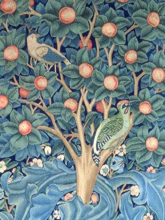 The Woodpecker Tapestry, Detail of the Woodpeckers, 1885 (Tapestry)