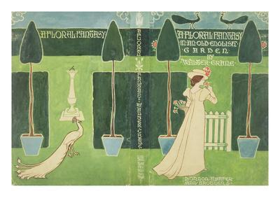 Book Jacket Design for 'A Floral Fantasy in an Old English Garden' by Walter Crane, C.1890S (Litho)