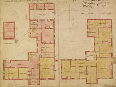 Plans for the Red House, Bexley Heath, 1859 (Pen and Ink and W/C on Paper)