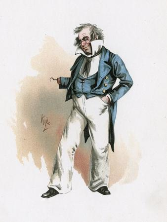 Captain Cuttle, Illustration from 'Character Sketches from Charles Dickens', C.1890 (Colour Litho)