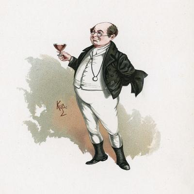 Mr Pickwick, Illustration from 'Character Sketches from Charles Dickens', C.1890 (Colour Litho)